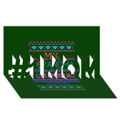 My Grandma Made This Ugly Holiday Green Background #1 MOM 3D Greeting Cards (8x4)