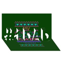 My Grandma Made This Ugly Holiday Green Background #1 Dad 3d Greeting Card (8x4)