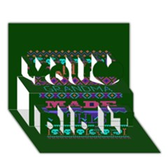 My Grandma Made This Ugly Holiday Green Background You Did It 3D Greeting Card (7x5)