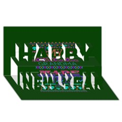 My Grandma Made This Ugly Holiday Green Background Happy New Year 3D Greeting Card (8x4)