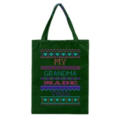 My Grandma Made This Ugly Holiday Green Background Classic Tote Bag