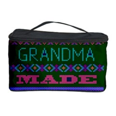 My Grandma Made This Ugly Holiday Green Background Cosmetic Storage Case