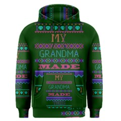 My Grandma Made This Ugly Holiday Green Background Men s Pullover Hoodie