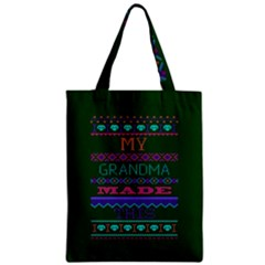 My Grandma Made This Ugly Holiday Green Background Zipper Classic Tote Bag