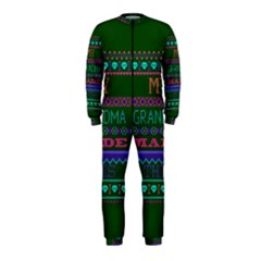 My Grandma Made This Ugly Holiday Green Background OnePiece Jumpsuit (Kids)