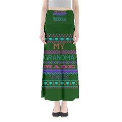 My Grandma Made This Ugly Holiday Green Background Maxi Skirts