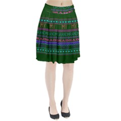 My Grandma Made This Ugly Holiday Green Background Pleated Skirt