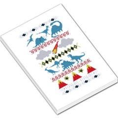 My Grandma Likes Dinosaurs Ugly Holiday Christmas Large Memo Pads