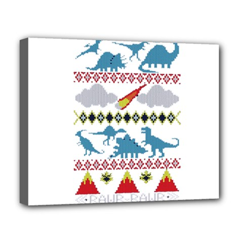 My Grandma Likes Dinosaurs Ugly Holiday Christmas Deluxe Canvas 20  x 16