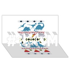 My Grandma Likes Dinosaurs Ugly Holiday Christmas #1 MOM 3D Greeting Cards (8x4)