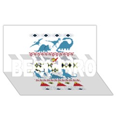 My Grandma Likes Dinosaurs Ugly Holiday Christmas BEST BRO 3D Greeting Card (8x4)