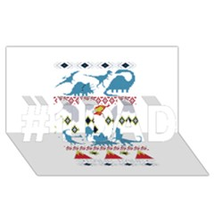 My Grandma Likes Dinosaurs Ugly Holiday Christmas #1 DAD 3D Greeting Card (8x4)
