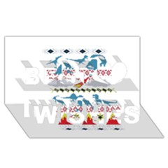 My Grandma Likes Dinosaurs Ugly Holiday Christmas Best Wish 3D Greeting Card (8x4)