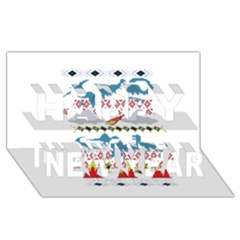 My Grandma Likes Dinosaurs Ugly Holiday Christmas Happy New Year 3D Greeting Card (8x4)