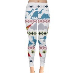 My Grandma Likes Dinosaurs Ugly Holiday Christmas Leggings