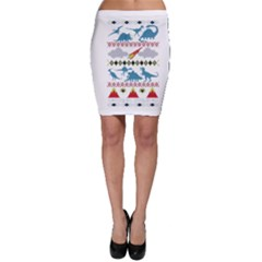 My Grandma Likes Dinosaurs Ugly Holiday Christmas Bodycon Skirt