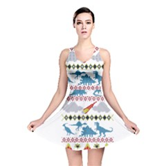 My Grandma Likes Dinosaurs Ugly Holiday Christmas Reversible Skater Dress