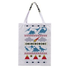 My Grandma Likes Dinosaurs Ugly Holiday Christmas Classic Tote Bag
