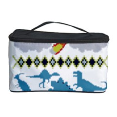 My Grandma Likes Dinosaurs Ugly Holiday Christmas Cosmetic Storage Case