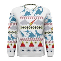 My Grandma Likes Dinosaurs Ugly Holiday Christmas Men s Long Sleeve Tee