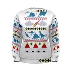 My Grandma Likes Dinosaurs Ugly Holiday Christmas Women s Sweatshirt