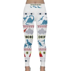 My Grandma Likes Dinosaurs Ugly Holiday Christmas Classic Yoga Leggings