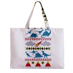 My Grandma Likes Dinosaurs Ugly Holiday Christmas Zipper Mini Tote Bag