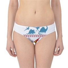 My Grandma Likes Dinosaurs Ugly Holiday Christmas Hipster Bikini Bottoms