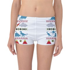 My Grandma Likes Dinosaurs Ugly Holiday Christmas Reversible Boyleg Bikini Bottoms