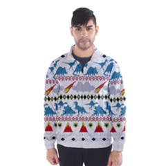 My Grandma Likes Dinosaurs Ugly Holiday Christmas Wind Breaker (Men)