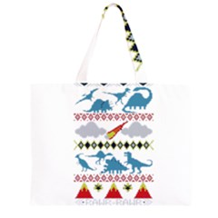 My Grandma Likes Dinosaurs Ugly Holiday Christmas Large Tote Bag