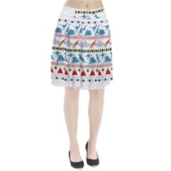 My Grandma Likes Dinosaurs Ugly Holiday Christmas Pleated Skirt