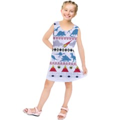 My Grandma Likes Dinosaurs Ugly Holiday Christmas Kids  Tunic Dress