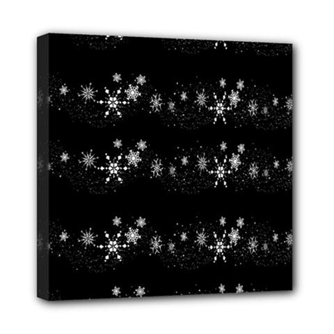 Black elegant  Xmas design Mini Canvas 8  x 8