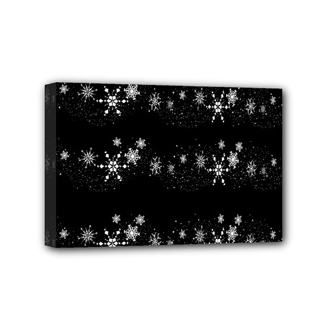 Black elegant  Xmas design Mini Canvas 6  x 4