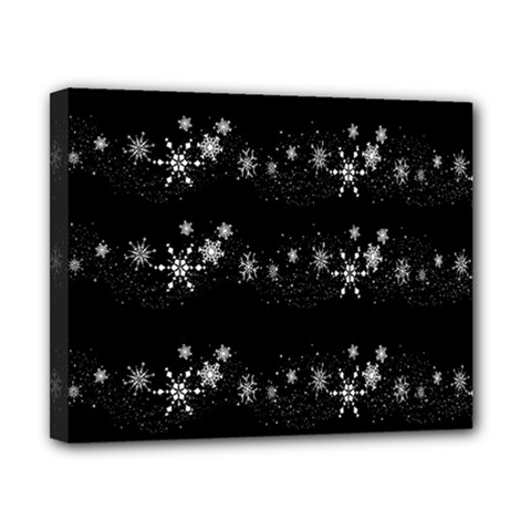 Black elegant  Xmas design Canvas 10  x 8