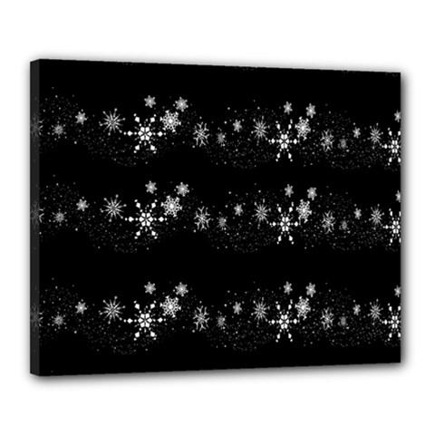 Black elegant  Xmas design Canvas 20  x 16