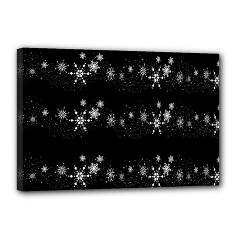 Black elegant  Xmas design Canvas 18  x 12