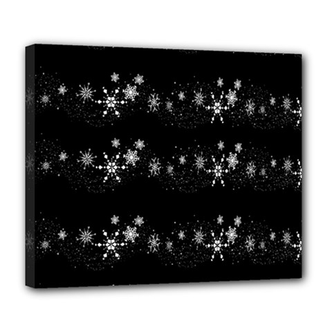 Black elegant  Xmas design Deluxe Canvas 24  x 20