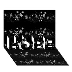 Black elegant  Xmas design HOPE 3D Greeting Card (7x5)