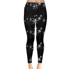 Black elegant  Xmas design Leggings