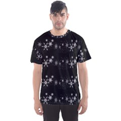 Black elegant  Xmas design Men s Sport Mesh Tee