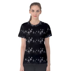Black elegant  Xmas design Women s Cotton Tee