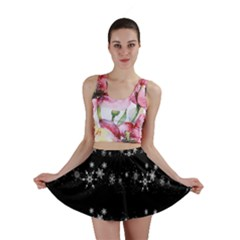 Black elegant  Xmas design Mini Skirt