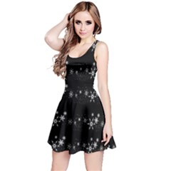 Black elegant  Xmas design Reversible Sleeveless Dress