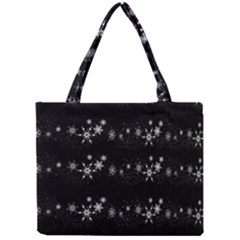 Black elegant  Xmas design Mini Tote Bag