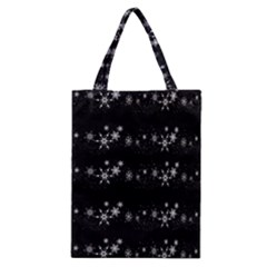 Black elegant  Xmas design Classic Tote Bag