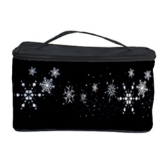 Black elegant  Xmas design Cosmetic Storage Case