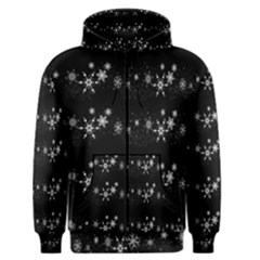 Black elegant  Xmas design Men s Zipper Hoodie