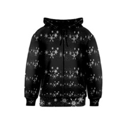 Black elegant  Xmas design Kids  Zipper Hoodie
